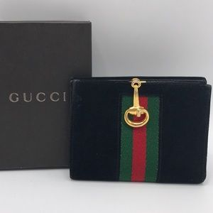 Authentic Gucci Black Suede & Leather Wallet❤️